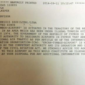 Έτσι απαντάνε στους Τούρκους: «Δεν αναγνωρίζουμε το υπό κατοχή αεροδρόμιοΕρτζάν»