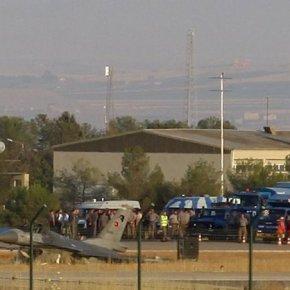 Τουρκικό μαχητικό F-16D Block40 συνετρίβη στην αεροπορική βάση τουDiyarbakir