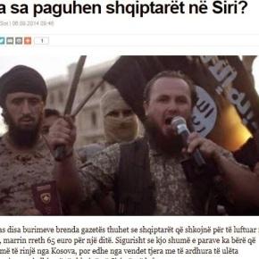 Σκοτώνουν για 65 ευρώ την ημέρα οι Αλβανοί Τζιχαντιστές στηνΣυρία