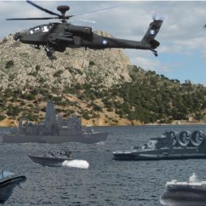 Τεράστια επιχείρηση με 20 Πολεμικά σκάφη…Ανακατάληψη βραχονησίδας απο την Δύναμη«Δ»
