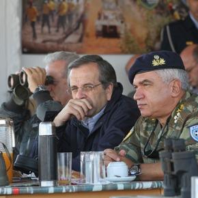 Ο πρωθυπουργός και ο υπουργός Εθνικής Άμυνας παρακολούθησαν από κοντά τα γυμνάσια στο πεδίο ασκήσεων «Αετός» του ΈβρουΦΩΤΟΓΡΑΦΙΕΣ