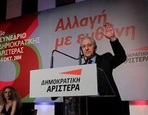Πρόεδρος του( 0,8)τίποτα-Επανεκλέγεται πρόεδρος της ΔΗΜΑΡ οΚουβέλης