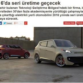 Η Τουρκία θα αρχίσει μαζική παραγωγή ηλεκτρικών αυτοκινήτων το2016