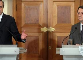ΣΤΟΧΟΣ Η ΑΠΟΚΛΙΜΑΚΩΣΗ ΤΗΣ ΚΡΙΣΗΣ Μέτρα κατά των τουρκικών προκλήσεων αποφάσισαν Σαμαράς-Αναστασιάδης