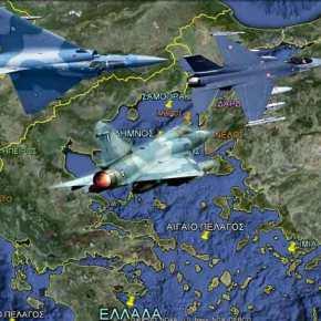 Σκληρή αερομαχία στο βόρειο Αιγαίο με ελληνικά Mirage 2000-5 και εικονικές καταρρίψεις τουρκικώνF-16
