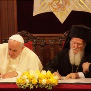 Με την υπογραφή κοινής δήλωσης, ολοκληρώθηκε η επίσκεψη του Πάπα στοΦανάρι