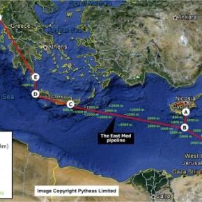 Νέος αγωγός από Ισραήλ μέσω Κύπρου καιΚρήτης