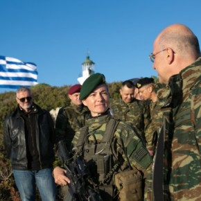 Η υπολοχαγός Καταδρομών που κρατά ψηλά τη σημαία στην Στρογγύλη –ΒΙΝΤΕΟ