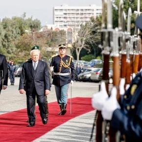 Δήλωση ΥΕΘΑ Νίκου Δένδια κατά την υποδοχή του Προέδρου της Δημοκρατίας Κάρολου Παπούλια στο Υπουργείο ΕθνικήςΑμύνης