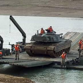 Για που ετοιμάζονται τα Τούρκικα Άρματα και οι γέφυρες διέλευσης Ποταμού ;(φώτο)