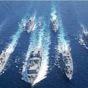 Όλος ο Στόλος βγήκε στο Αιγαίο με την υποστήριξη της ΠΑ και τηςΑ.Σ