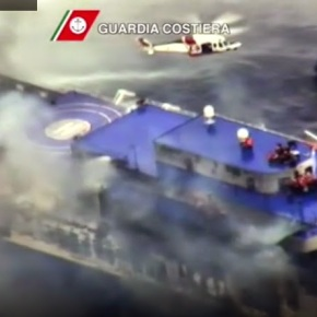 """Norman Atlantic"": Διασώθηκαν οι επιβάτες- παρέμεινε τοπλήρωμα"