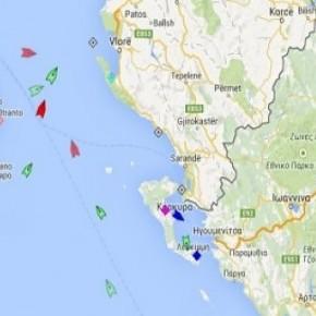Δραματικές ώρες για 466 ψυχές στο πλοίο που καίγεται ανοιχτά τηςΚέρκυρας