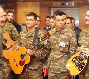Χριστουγεννιάτικα Κάλαντα στο Γενικό Επιτελείο Στρατού(φωτογραφίες)