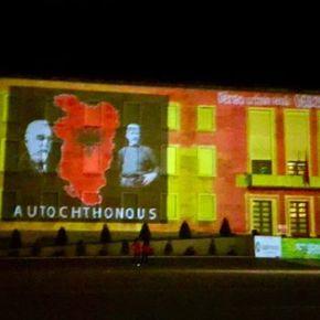 Σημαία της μεγάλης Αλβανίας στο πρωθυπουργικό μέγαρο της χώρας και στο facebook τουΡάμα