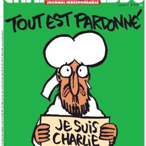 «Δεν θα υποχωρήσουμε σε τίποτα» τονίζει ο δικηγόρος της εφημερίδας Με καρικατούρα του δακρυσμένου Μωάμεθ να κρατά μια επιγραφή «Je suis Charlie» κυκλοφορεί η έκδοση της CharlieHebdo