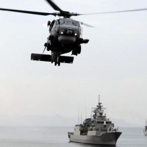 Ελικόπτερα Aegean Hawk σε φρεγάτες Kortenaer τουΣτόλου