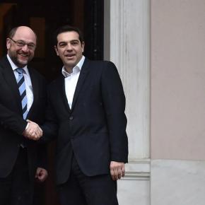 Σουλτς: Ειλικρινής και ουσιαστική η συζήτηση…Αλ. Τσίπρας μετά τη συνάντηση με τον Μάρτιν Σουλτς: Διαβουλεύσεις για μια αμοιβαία επωφελήλύση