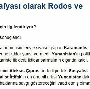 Τουρκικό άρθρο: Συνεργασία σε Ρόδο καιΔωδεκάνησα