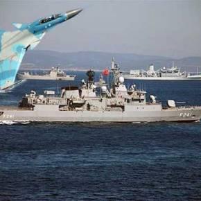 Η Ρωσική αεροπορία σε εικονική επίθεση!  Στόχος αμερικανικό και τουρκικόπλοίο!