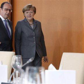 Μέρκελ: Εργαζόμαστε για την παραμονή της Ελλάδας στο ευρώ – Ολάντ: Εχουμε χάσει πολύ χρόνο Συναντήθηκε με τον γάλλο πρόεδρο Φρανσουά Ολάντ στο Βερολίνο στο πλαίσιο του γαλλογερμανικούσυμβουλίου
