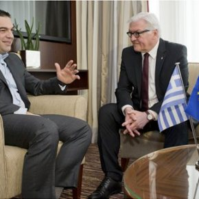 Μετά τη συνάντηση που είχε με τον Αλ. Τσίπρα Στάινμαγερ: «Είμαι ικανοποιημένος για τη βελτίωση του τόνου στις ελληνογερμανικές συνομιλίες»