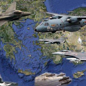 Οκτώ τα Τούρκικα μαχητικά στο Αιγαίο & το «CN-235″ να ψάχνει & νακαταγράφει!