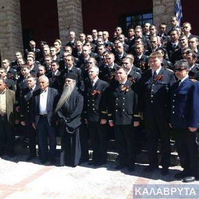 Συγκλονιστική κίνηση Ρώσου αξιωματικού κατά την επίσκεψη σταΚαλάβρυτα