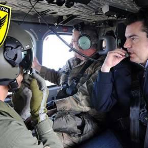 Με ελικόπτερο της Ε.Φ στη «Γραμμή του Πυρός» ο ΥΠΑΜ τηςΚύπρου!