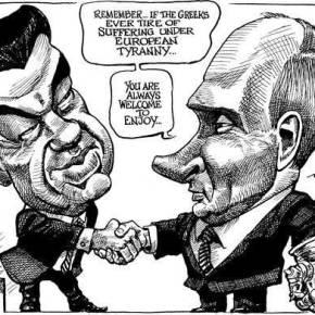 Το σαρκαστικό σκίτσο του Economist για την συνάντησηΤσίπρα-Πούτιν
