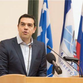 Ο πρωθυπουργός συναντήθηκε με το προεδρείο της κρατικής Δούμας της ΡωσίαΤσίπρας: Δεν είναι λύση, η κλιμάκωση του αδιέξοδου οικονομικούπολέμους