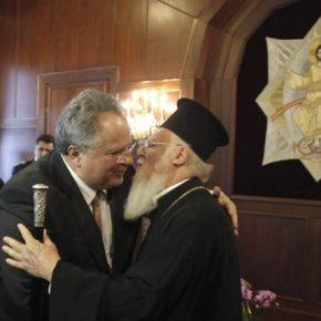 Φανάρι: Θερμή συνάντηση Πατριάρχη – Ν. Κοτζιά στο Φανάρι Στήριξη Βαρθολομαίου προς τηνκυβέρνηση
