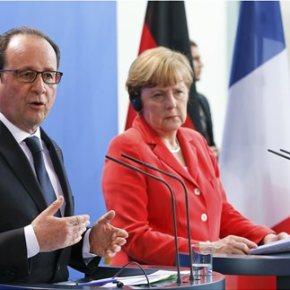 Μέρκελ-Ολάντ: Οι διαπραγματεύσεις με την Ελλάδα πρέπει να επιταχυνθούν Οι δύο πολιτικοί αρχηγοί είναι πρόθυμοι να συναντηθούν με τον Αλέξη Τσίπρα στο περιθώριο τουEurogroup