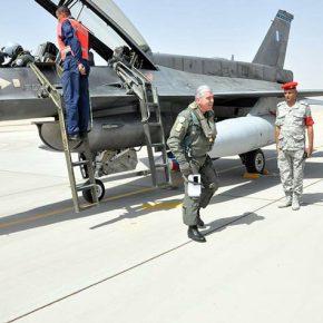 Αυθημερόν πέταξε για την «Air Base Fayed «της Αιγύπτου ο Βαΐτσης! (φώτο &Xάρτης))