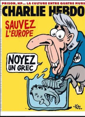 Charlie Hebdo: «Σώστε την Ευρώπη, πνίξτε ένανΈλληνα»