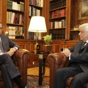 Ανήσυχος ο Σαμαράς, επισκέφθηκε τον Πρόεδρο τηςΔημοκρατίας
