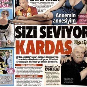 «Σας αγαπάμε καρντάσια»Ο Αλέξης Τσίπρας έστειλε μήνυμα στον τουρκικό λαό μέσω τηςHurryiet