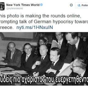 Σφοδρή επίθεση στην Γερμανία από ΗΠΑ με «φαρμακερό» tweet των NY Times για την διαγραφή του γερμανικού χρέους: «Οι υποκριτές ξέχασαν την ιστορίατους»!
