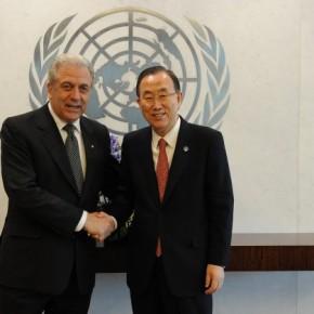 Επιστολή του ΓΓ του ΟΗΕ στον Αβραμόπουλο για τηνμετανάστευση