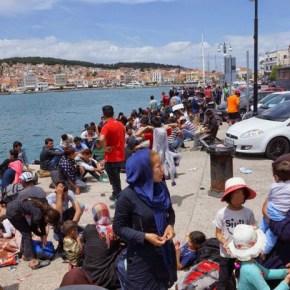 Ασφυκτική η κατάσταση στη Μυτιλήνη με 9.500 μετανάστες να βρίσκονται στονησί