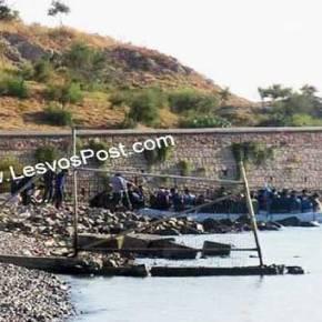 Εξέγερση σε εξέλιξη – Πετροπόλεμο εξαπέλυσαν οι λάθρο κατά των αστυνομικών στην Μυτιλήνη (vid,εικόνες)