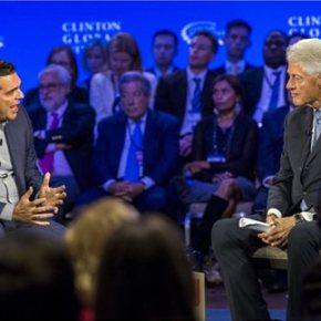 ΗΠΑ: Με τον Μπιλ Κλίντον συζήτησε ο Αλέξης Τσίπρας Για μεταρρυθμίσεις και επενδύσεις έκανε λόγο ο Έλληναςπρωθυπουργός