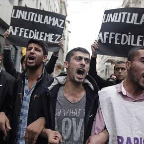"""""""ΦΛΕΓΕΤΑΙ"""" η Τουρκία-Διαδήλωση κατά του Ερντογάν στην Κωνσταντινούπολη (φωτο)"""