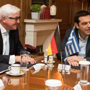 Τσίπρας: Υλοποιούμε μέτρα με τα οποία δεν συμφωνούμε Περίπου μία ώρα διήρκησε η συνάντηση που είχε ο πρωθυπουργός Αλέξης Τσίπρας με τον γερμανό υπουργό Εξωτερικών Φ-ΒΣτάινμάγερ.