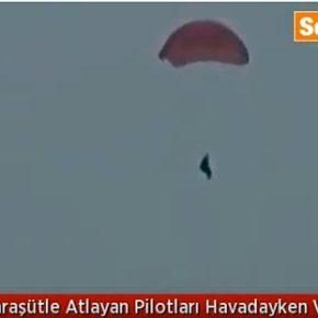 Ντοκουμέντο : Θερίζουν τους Ρώσους πιλότους του SU-24 τα Κτήνη των Τουρκμέμων , καθώς πέφτουν με τα αλεξίπτωτά τους(video)