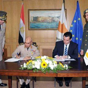 Μνημόνιο Στρατιωτικής-Αμυντικής Συνεργασίας υπέγραψαν χθες Κύπρος καιΑίγυπτος
