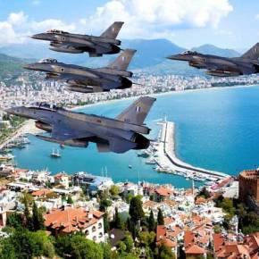 Για «Εισβολή» Ελληνικών Μαχητικών F-16 στην Αντάλια …Κάνουν λόγο οι Τούρκοι!(χάρτης)