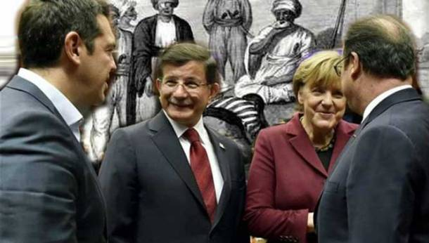 Tsipras-Davoutoglou-Merkel-Oland
