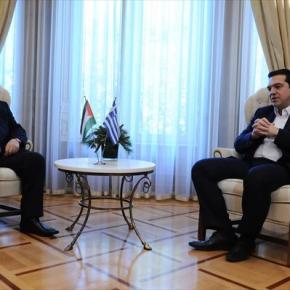 Συνάντηση Αλέξη Τσίπρα-Αμπάς… «Κλειδί» η επίλυση του Παλαιστινιακού(Βίντεο)