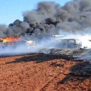 Βίντεο: Κόλαση επί Γης για τουρκικό κομβόι: Βομβαρδίστηκε ανηλεώς από την ρωσική και συριακή Αεροπορία – 12νεκροί